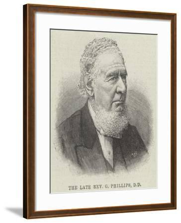 The Late Reverend G Phillips--Framed Giclee Print