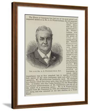 The Late Mr a B Winterbotham--Framed Giclee Print