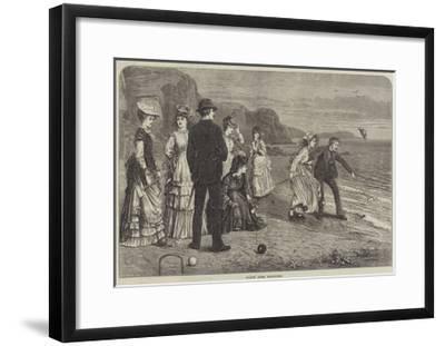 Croquet under Difficulties--Framed Giclee Print