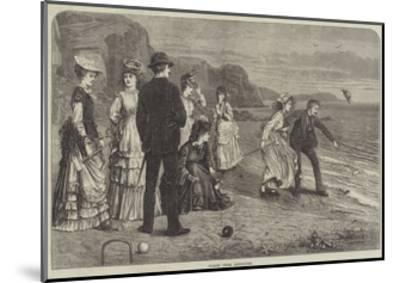 Croquet under Difficulties--Mounted Giclee Print