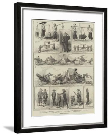 Sketches at Hong-Kong--Framed Giclee Print