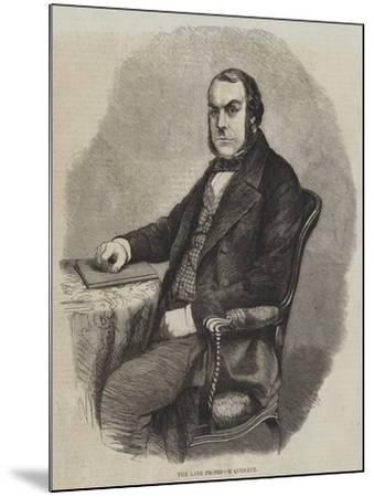 The Late Professor Quekett--Mounted Giclee Print
