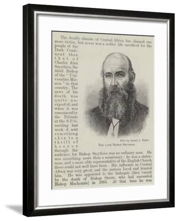 The Late Bishop Smythies--Framed Giclee Print