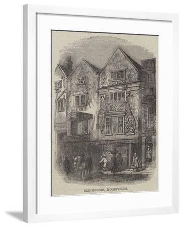 Old Houses, Moorfields--Framed Giclee Print