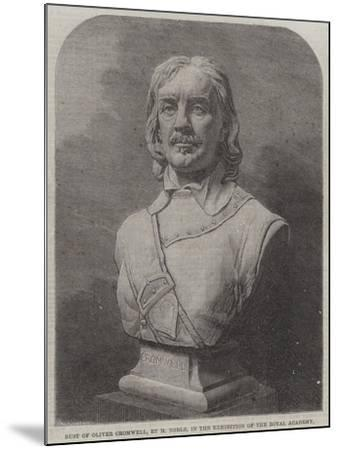 Bust of Oliver Cromwell--Mounted Giclee Print