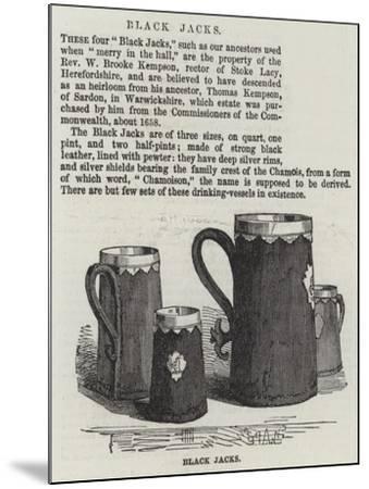 Black Jacks--Mounted Giclee Print