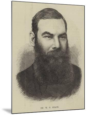 Dr W G Grace--Mounted Giclee Print