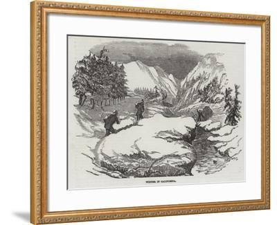 Winter in California--Framed Giclee Print