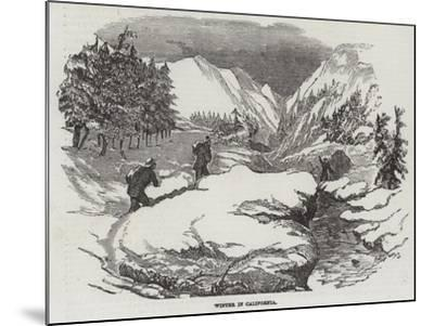 Winter in California--Mounted Giclee Print