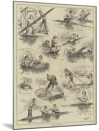 The Boating Fever--Mounted Giclee Print