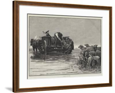A Flood in the Fens--Framed Giclee Print
