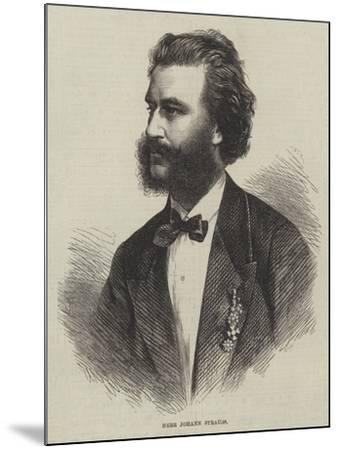 Herr Johann Strauss--Mounted Giclee Print