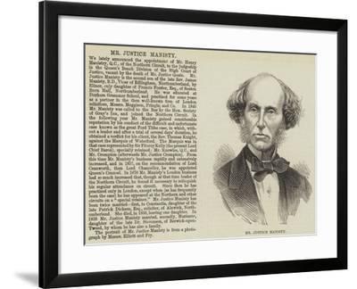 Mr Justice Manisty--Framed Giclee Print