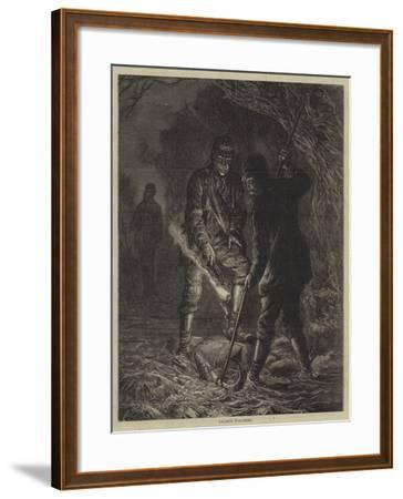Salmon Poaching--Framed Giclee Print