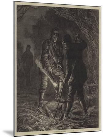 Salmon Poaching--Mounted Giclee Print