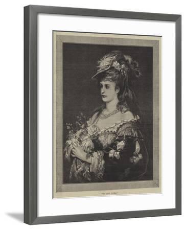 My Lady Flora--Framed Giclee Print