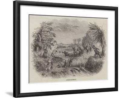 Otter-Hunting--Framed Giclee Print