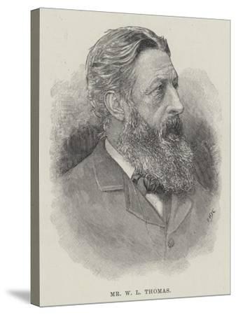 Mr W L Thomas--Stretched Canvas Print