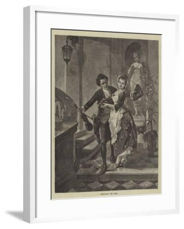 Demanding the Toll!--Framed Giclee Print