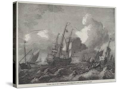 A Brisk Gale at Sea--Stretched Canvas Print