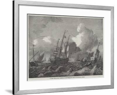 A Brisk Gale at Sea--Framed Giclee Print