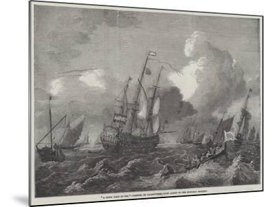 A Brisk Gale at Sea--Mounted Giclee Print