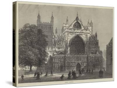 Exeter Cathedral--Stretched Canvas Print
