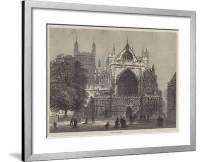 Exeter Cathedral--Framed Giclee Print