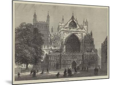 Exeter Cathedral--Mounted Giclee Print