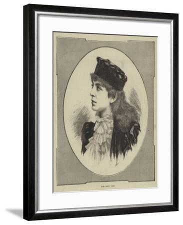 Miss Sibyl Grey--Framed Giclee Print