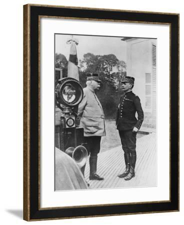 General Joffre and General Foch, 1914--Framed Giclee Print