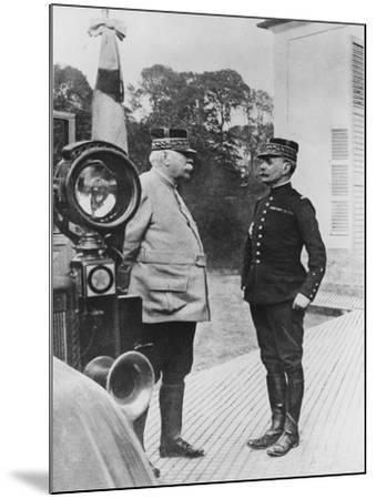 General Joffre and General Foch, 1914--Mounted Giclee Print