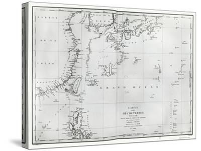 Map of the South China Sea, from the Itinerary of La Perouse, 1787--Stretched Canvas Print
