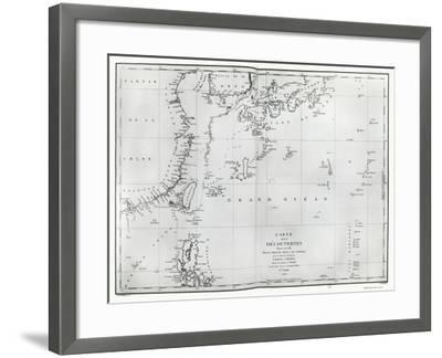 Map of the South China Sea, from the Itinerary of La Perouse, 1787--Framed Giclee Print