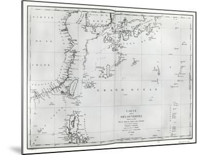 Map of the South China Sea, from the Itinerary of La Perouse, 1787--Mounted Giclee Print