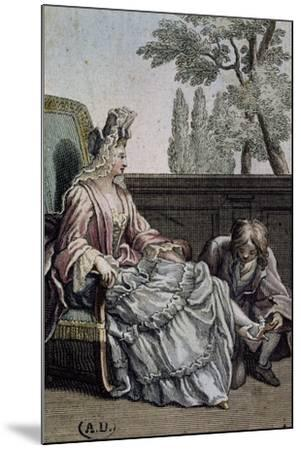 Shoemaker Measuring Lady's Shoes, Ca 1715, France, 18th Century--Mounted Giclee Print