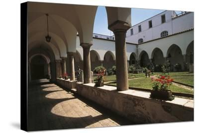 Cloister of a Church, St. Francis Church, Benevento, Campania, Italy--Stretched Canvas Print