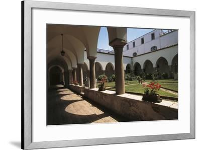 Cloister of a Church, St. Francis Church, Benevento, Campania, Italy--Framed Giclee Print