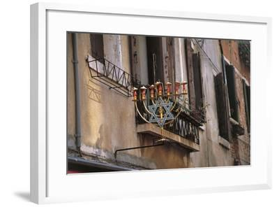 Low Angle View of a Jewish Symbol in a Ghetto, Venice, Veneto, Italy--Framed Giclee Print