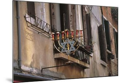 Low Angle View of a Jewish Symbol in a Ghetto, Venice, Veneto, Italy--Mounted Giclee Print