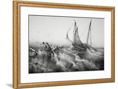 After Storm, by Ferdinand Perrot (1808-1841), Lithograph, 19th Century--Framed Giclee Print