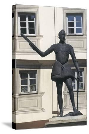 Statue of Don John of Austria, Regensburg, Bavaria, Germany--Stretched Canvas Print