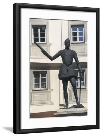 Statue of Don John of Austria, Regensburg, Bavaria, Germany--Framed Giclee Print