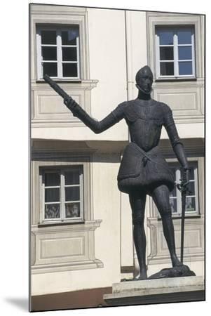 Statue of Don John of Austria, Regensburg, Bavaria, Germany--Mounted Giclee Print