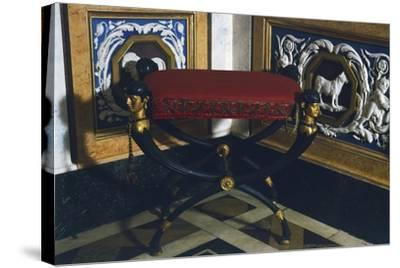 Empire Style Patinated and Gilt Bronze Faldstool, Spain, 19th Century--Stretched Canvas Print