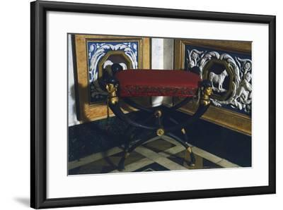 Empire Style Patinated and Gilt Bronze Faldstool, Spain, 19th Century--Framed Giclee Print