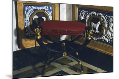 Empire Style Patinated and Gilt Bronze Faldstool, Spain, 19th Century--Mounted Giclee Print