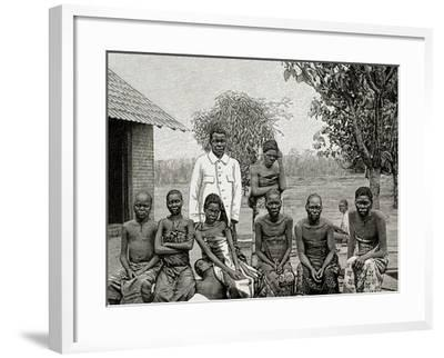 Africa. Native Affected by Sleeping Sickness, 1903--Framed Giclee Print
