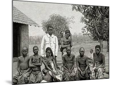 Africa. Native Affected by Sleeping Sickness, 1903--Mounted Giclee Print