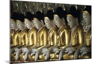 Statues of Buddha, U Min Thone Sae Pagoda, Mandalay, Myanmar (Burma)--Mounted Giclee Print
